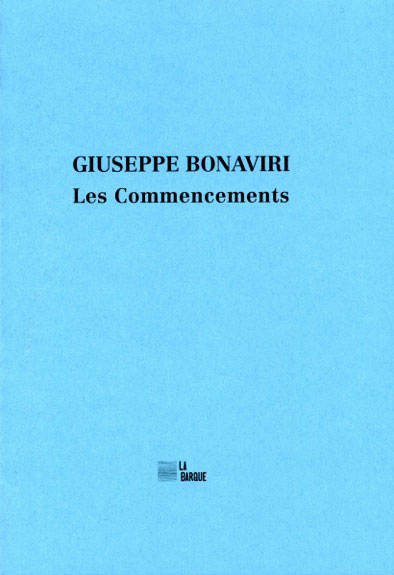 Giuseppe Bonaviri livre Les commencements