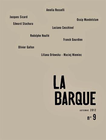 revue La Barque n°9