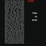 Jacques Sicard Films en prose livre