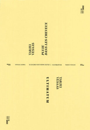 Livre Tarjei Vesaas Ultimatum / Pluie dans les cheveux