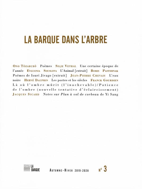 revue La Barque dans l'Arbre n°3